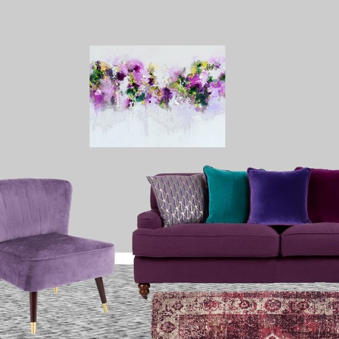 Pantone Ultra Violet Sitting room lounge