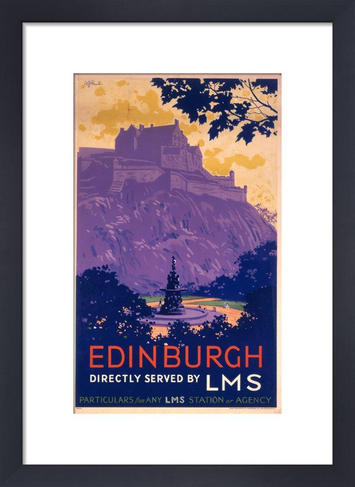 King & McGaw Edinburgh Castle Art print by National Railway Museum
