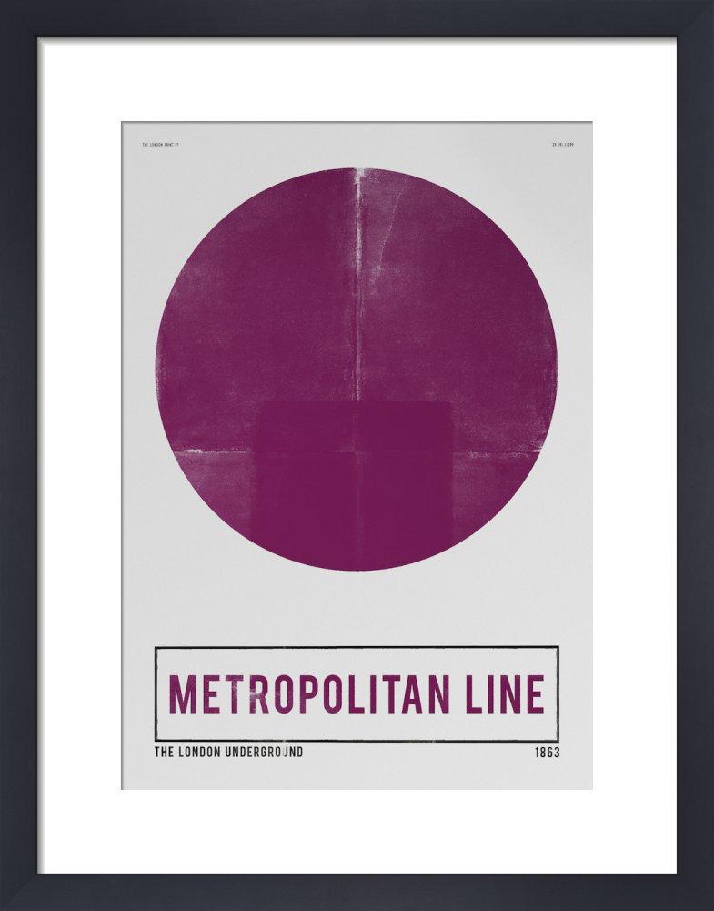 King & McGaw Metropolitan Line Art print by Nick Cranston