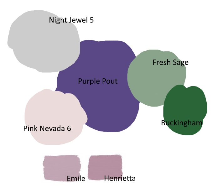 Pantone Ultra Violet Colour palette