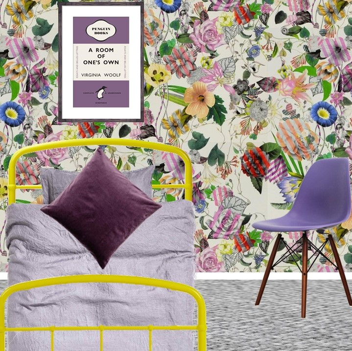 Pantone Ultra Violet Teenager tween bedroom