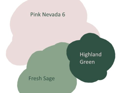 Pink and Green Dulux paint colour Palette