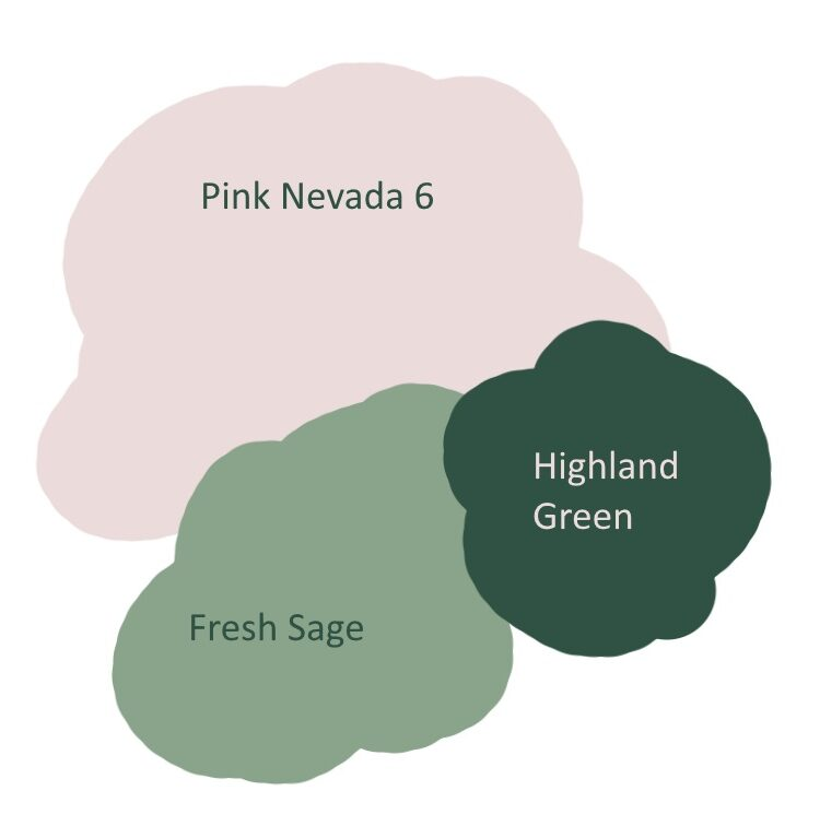 Pink and green styleboard