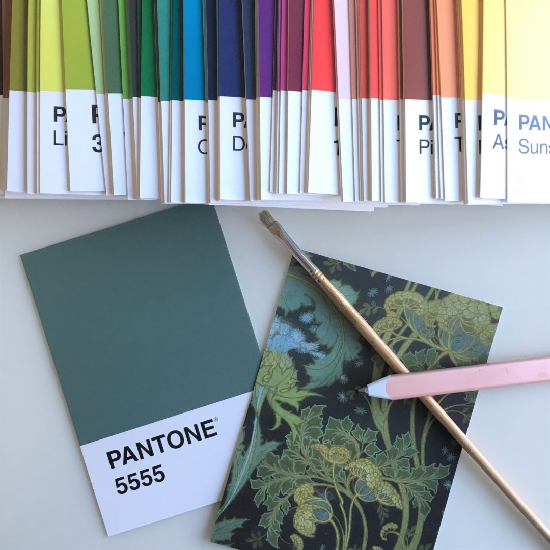 Pantone colour postcards