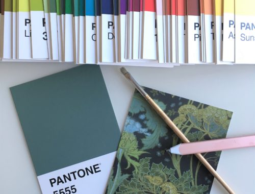 Pantone colour postcards