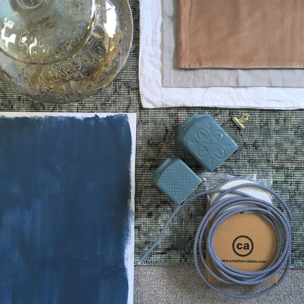 Farrow & Ball Stiffkey Blue bedroom palette