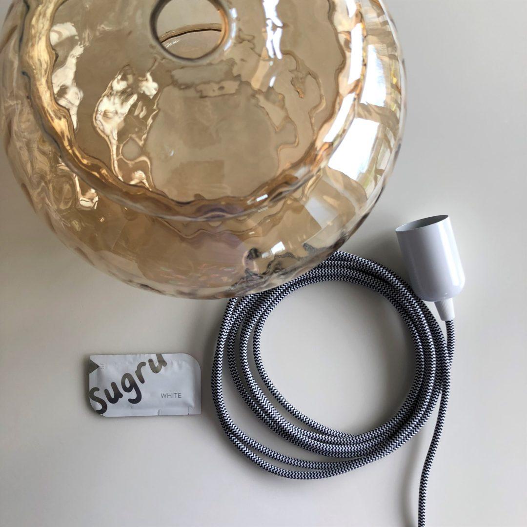 Sugru pendant lamp