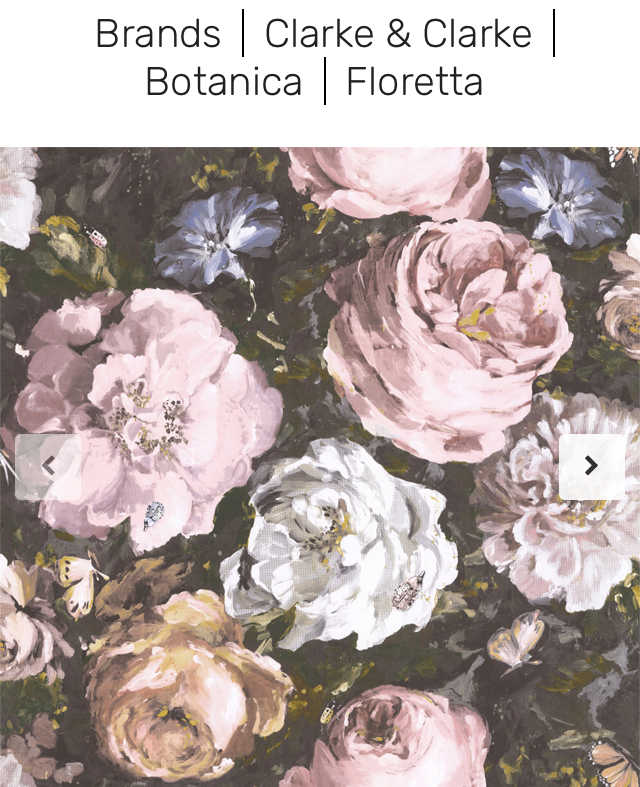 Clarke & Clarke Botanica Floretta in Blush and Charcoal
