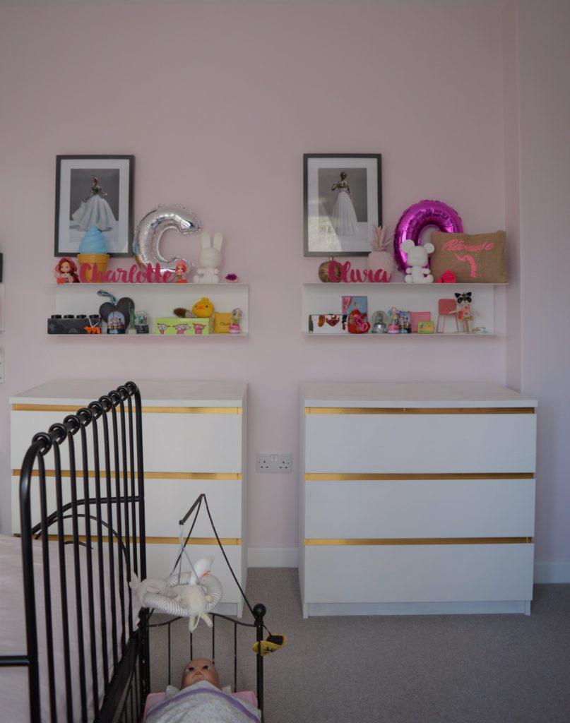 IKEA MALM hack Annie Sloan chalk paint white gold