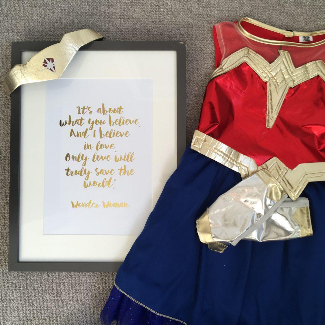 Dressing up Wonder Woman