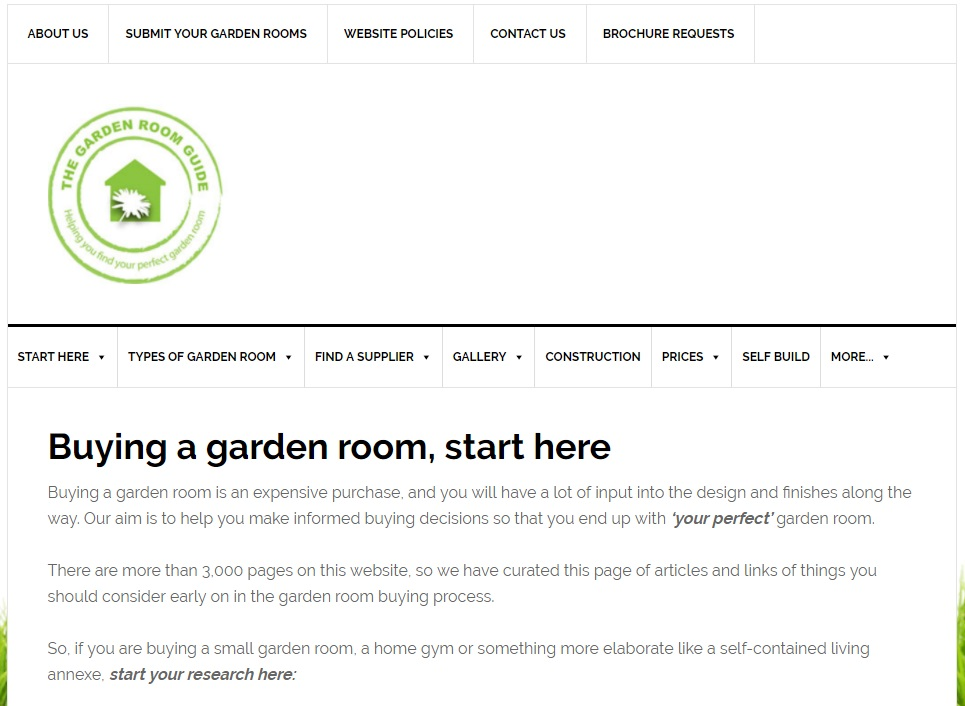 the garden room guide website