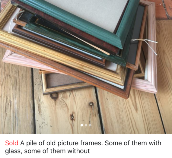 How to: A pile of old picture frames