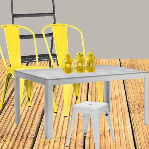Deck grey and yellow styleboard