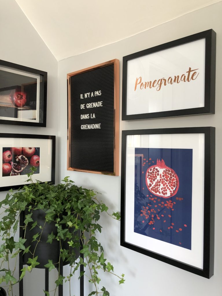 Pomegranate gallery wall