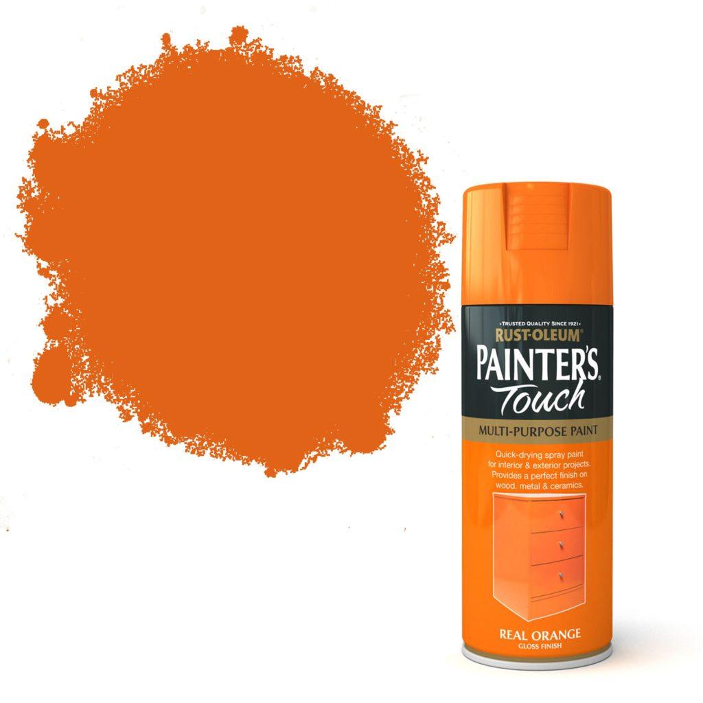 Rustoleum orange spray paint