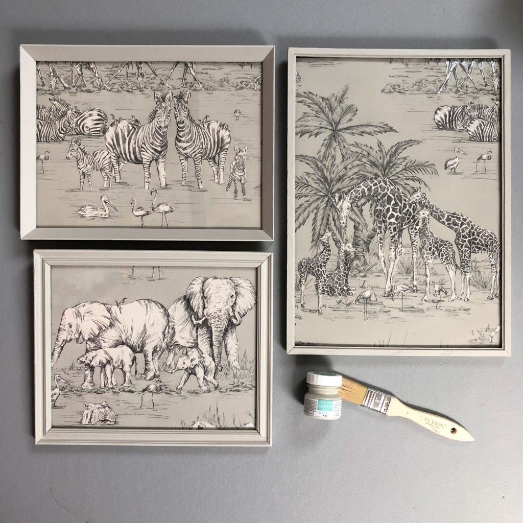 Picture frame upcycle Fusion Mineral Paint Putty