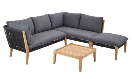 B&Q JUNEAU 6 SEATER COFFEE SET