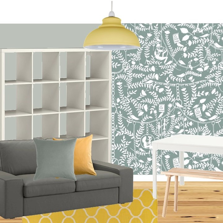 mustard sage sitting room styleboard