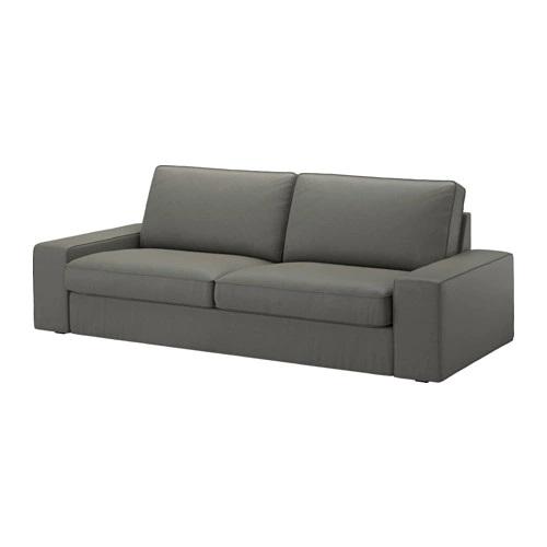 IKEA Three-seat sofa KIVIK Borred grey-green