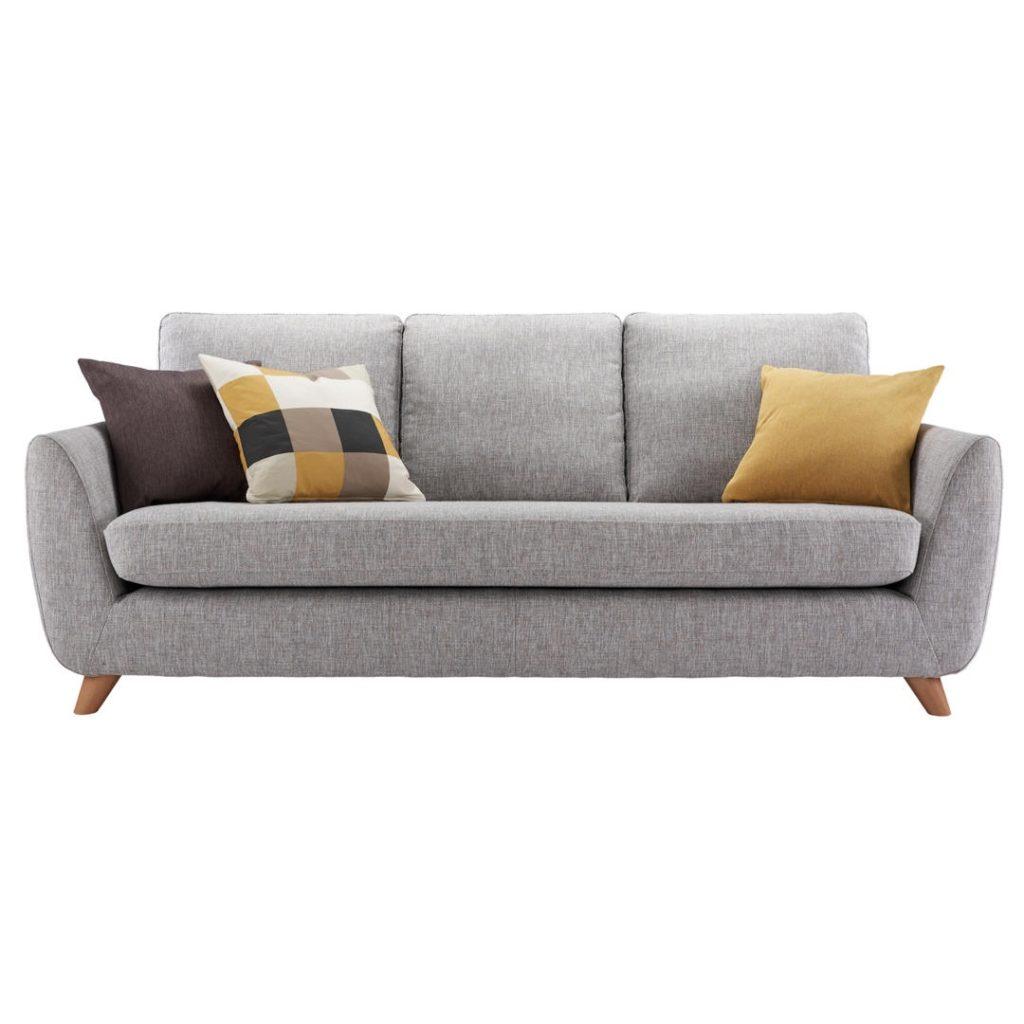John Lewis g plan vintage the sixty seven large 3 seater sofa marl grey