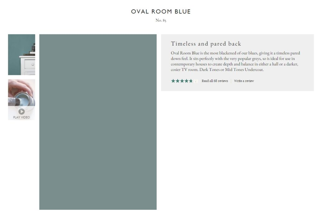 Farrow & Ball Oval Room Blue