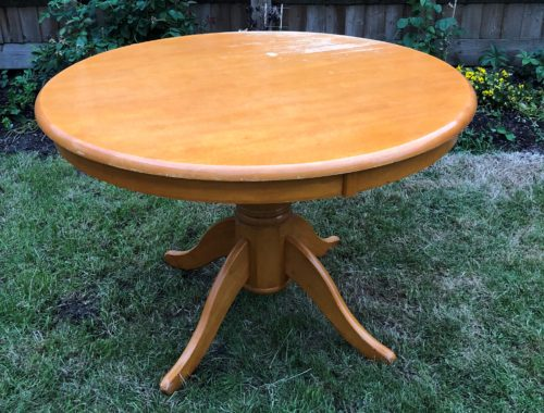 Table upcycle before