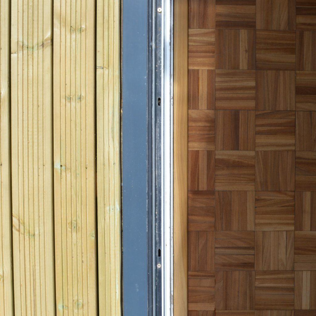 Indoor outdoor floor transition