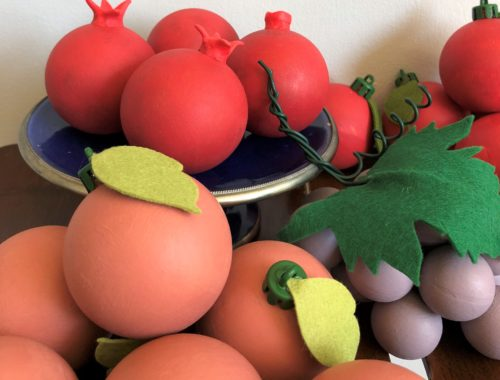 Annie Sloan challk paint painted Christmas baubles