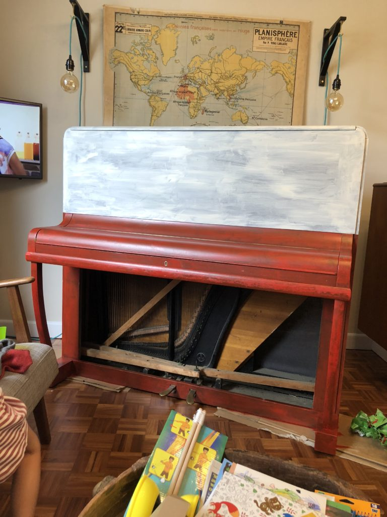 Painted piano colour block Home Made Productions