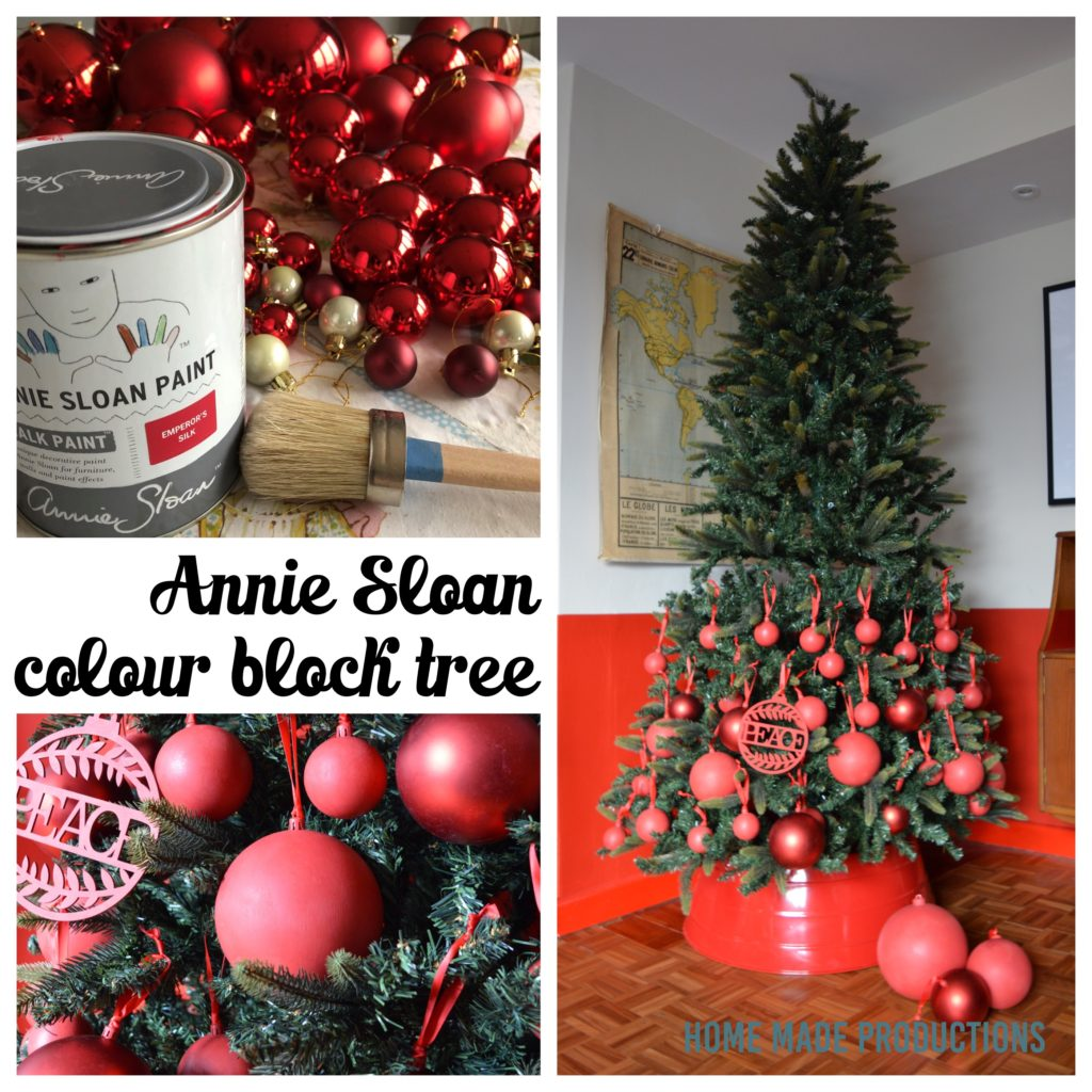 Annie Sloan Colour block Christmas tree Home Made Productions