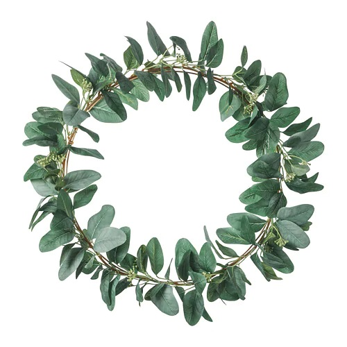 IKEA smycka-artificial-wreath-green