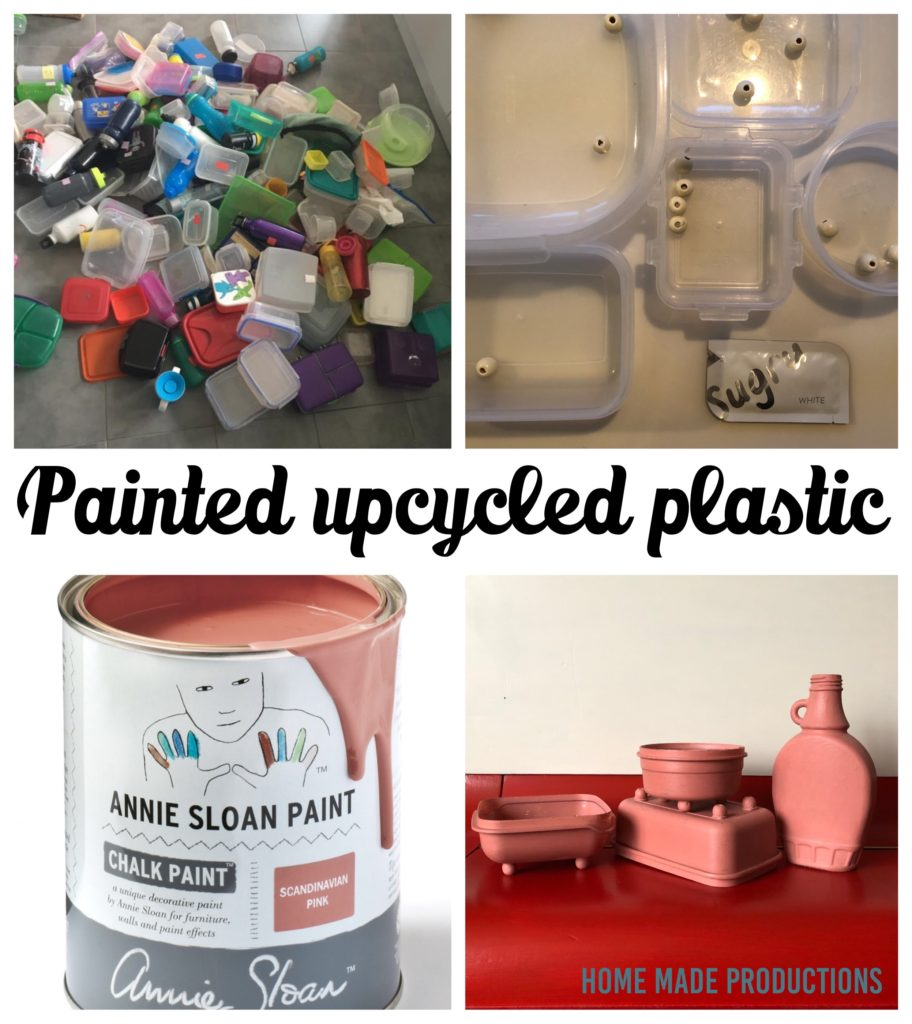Annie Sloan painted plastic upcycle Home Made Productions