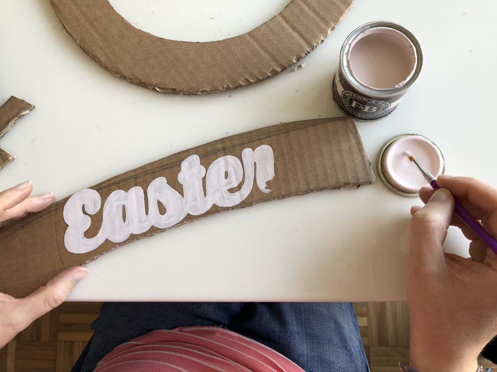 how to cardboard easter wreath wallpaper off cuts