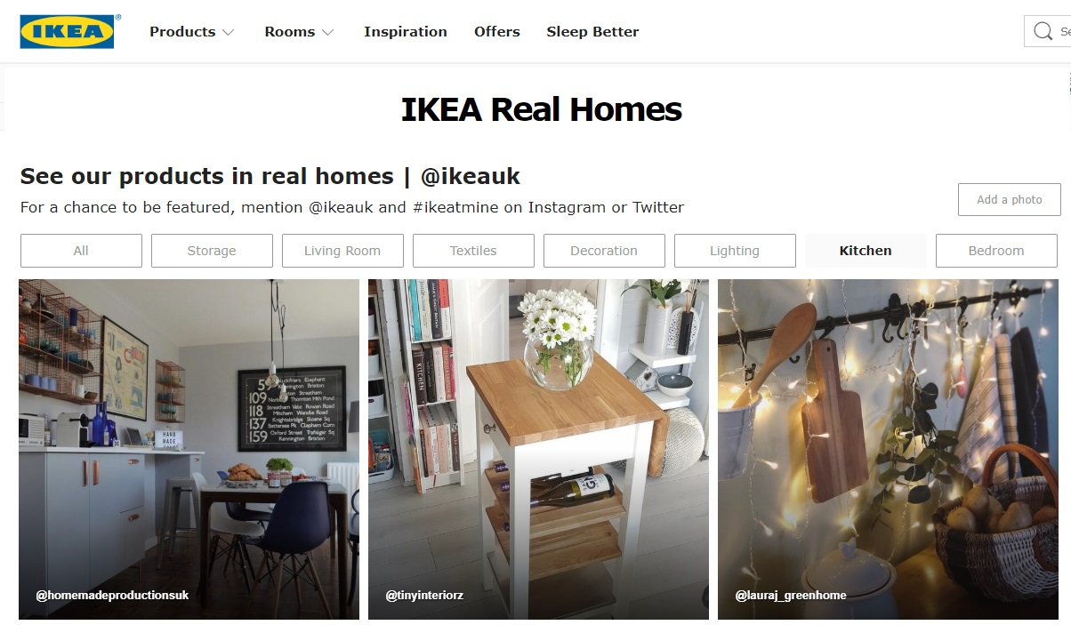 IKEA UK website January 2019