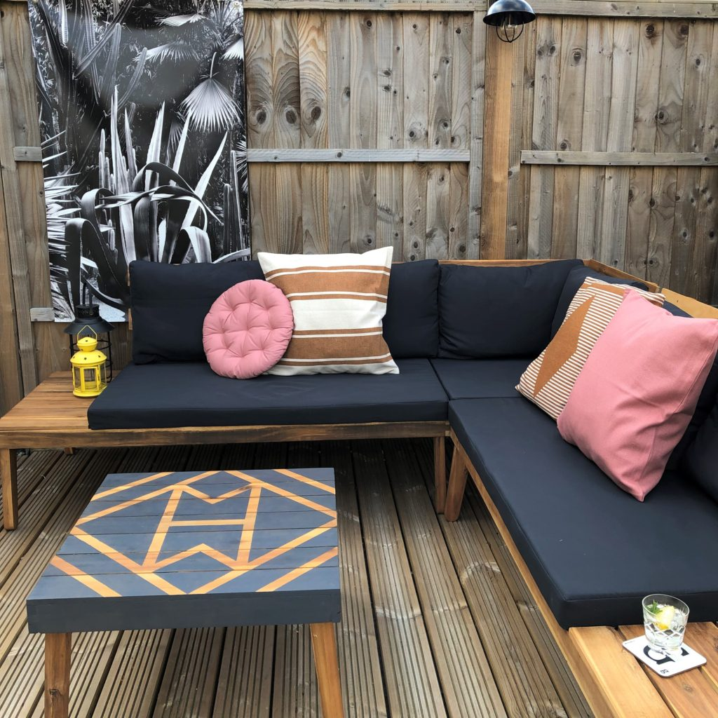 Aztec painted Aldi table how to Home Made Productions
