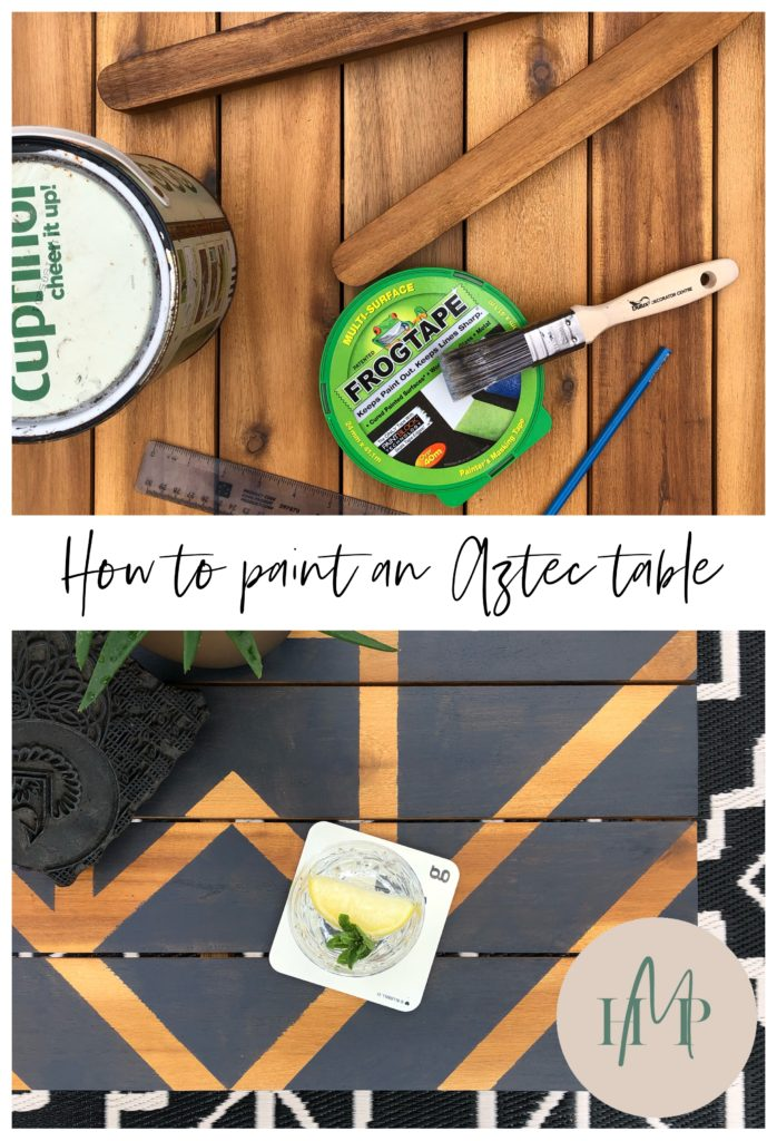 Aztec painted table how to Home Made Productions