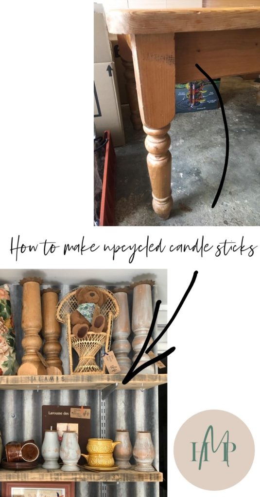 Upcycled candle sticks how to Home Made Productions