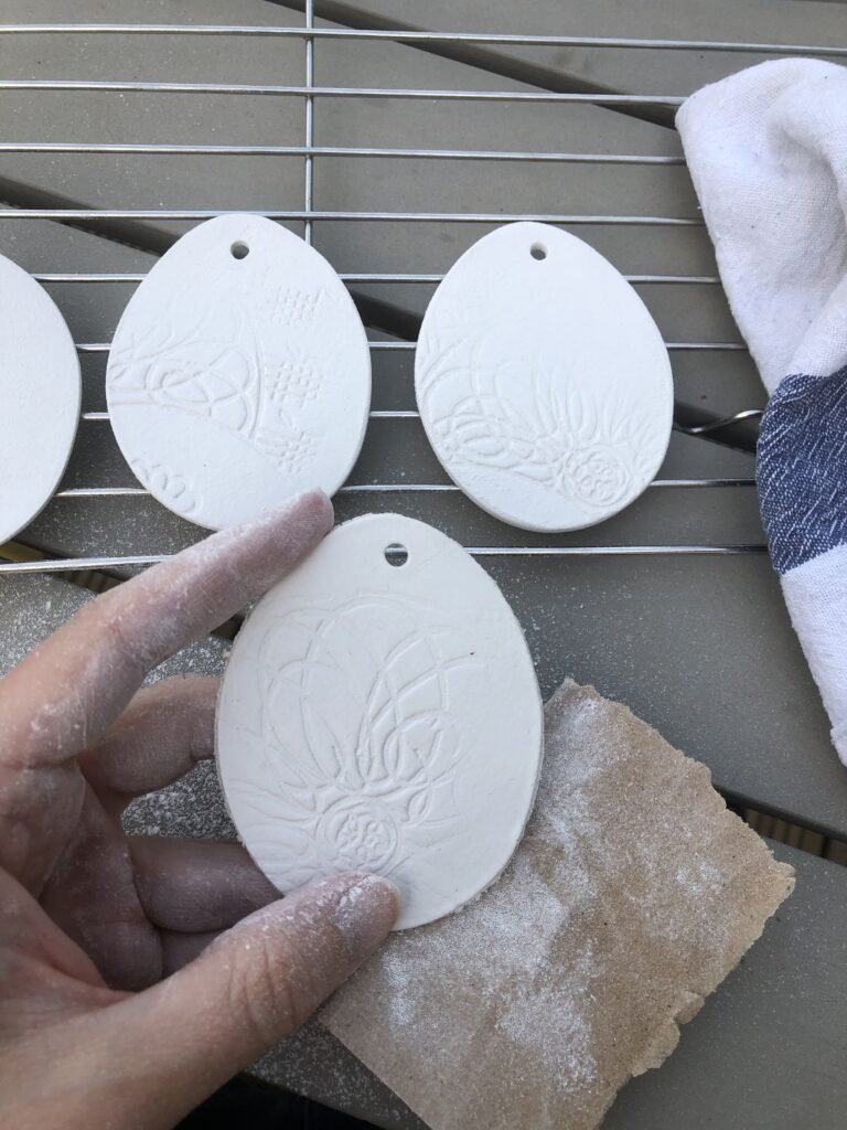 How to make air dry clay easter decorations