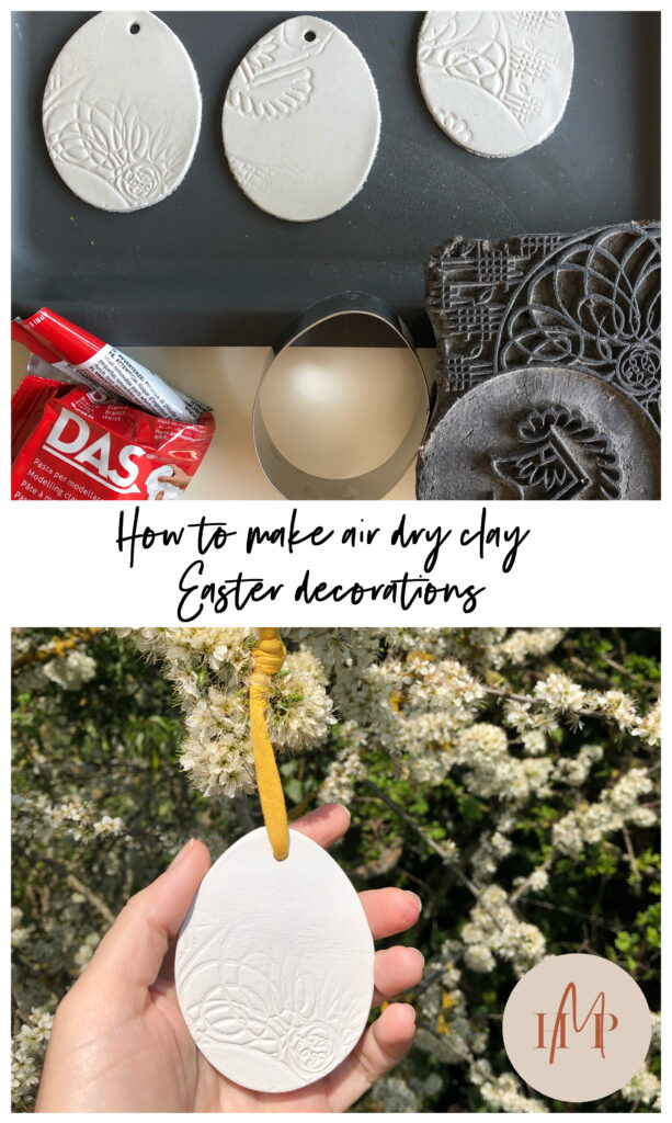 How to make air dry clay easter decorations HomeMadeProductions